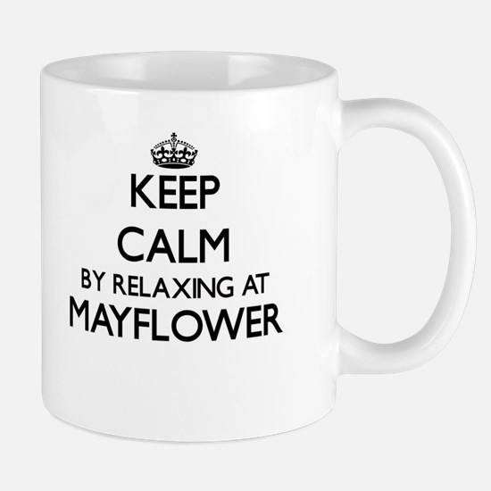 Keep calm by relaxing at Mayflower Massachuse Mugs
