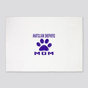 Anatolian Shepherd dog mom designs 5'x7'Area Rug