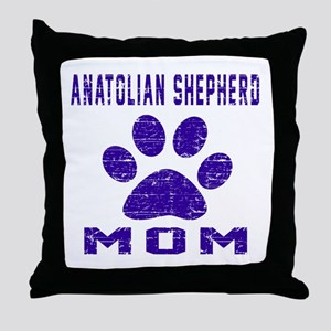 Anatolian Shepherd dog mom designs Throw Pillow