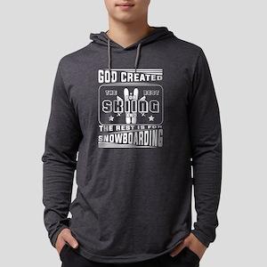 God Created The Best For Skiin Long Sleeve T-Shirt