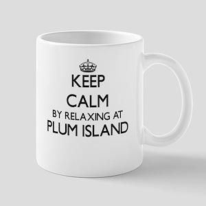 Keep calm by relaxing at Plum Island Massachu Mugs