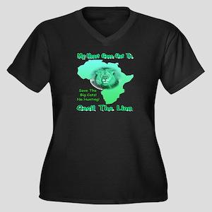 My Heart Goe Women's Plus Size V-Neck Dark T-Shirt