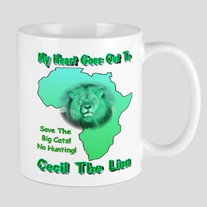 My Heart Goes Out To Cecil The Lion Mug