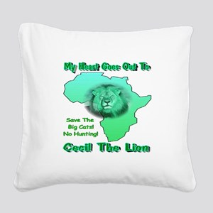 My Heart Goes Out To Cecil Th Square Canvas Pillow