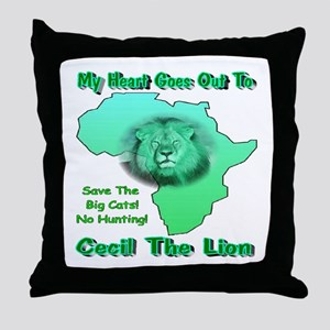 My Heart Goes Out To Cecil The Lion Throw Pillow