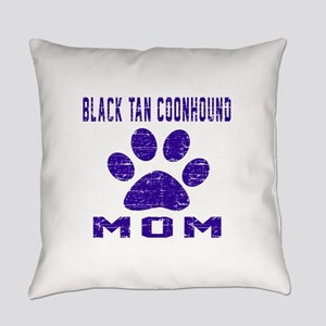 Black & Tan Coonhound mom designs Everyday Pillow
