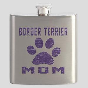 Border Terrier mom designs Flask