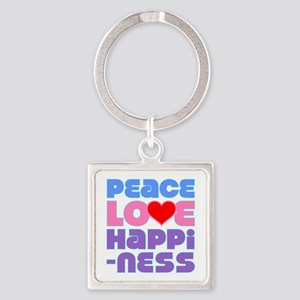 Peace Love Square Keychain