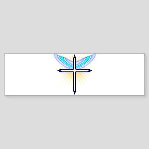 Angel Cross Bumper Sticker