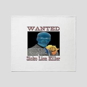 WANTED SICKO LION KILLER Throw Blanket