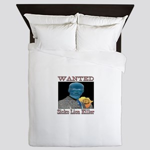 WANTED SICKO LION KILLER Queen Duvet