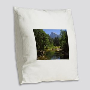 yosemite national park/ Burlap Throw Pillow