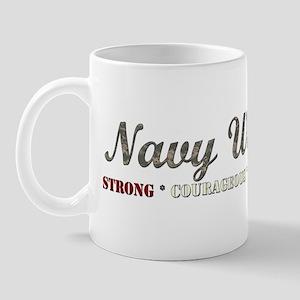 Navy Wife Strong Courageous P Mug