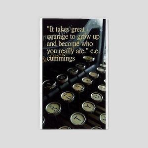 Courage Vintage Typewriter Area Rug