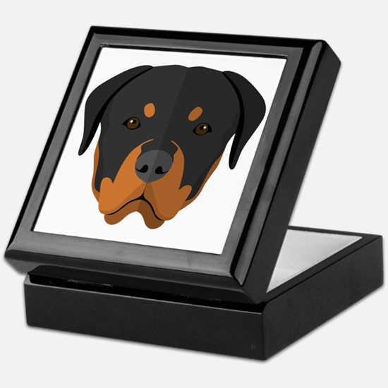 Cute Rottweiler Keepsake Box