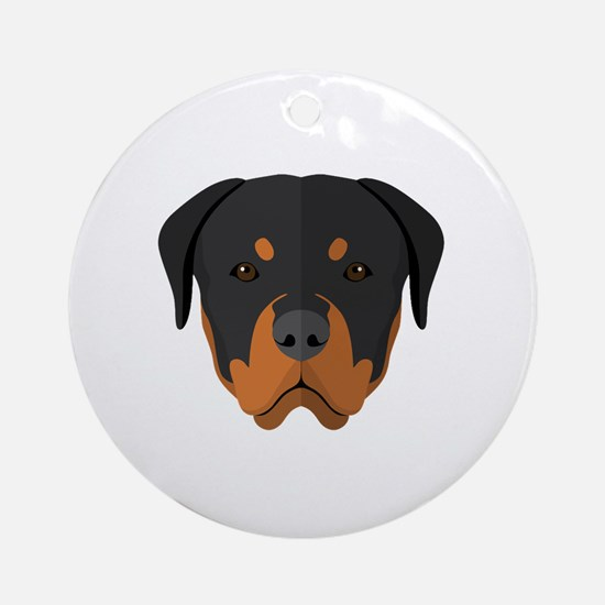 Cute Rotties Round Ornament