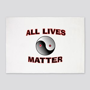 ALL LIVES MATTER 5'x7'Area Rug