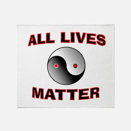 ALL LIVES MATTER Throw Blanket