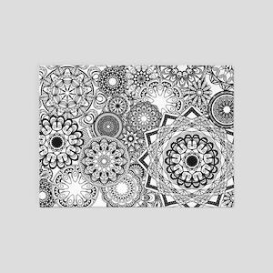 Snowflake Sketch 1 5'x7'Area Rug