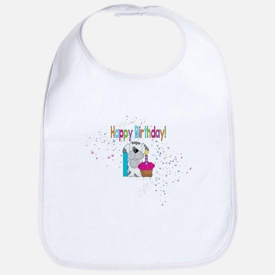 Happy 1st Birthday Bib