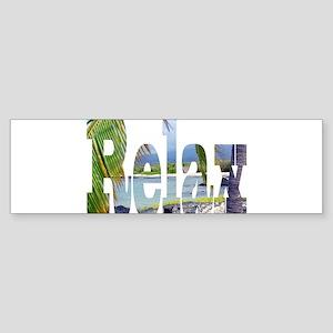 Relax Big Island Hawaii Bumper Sticker