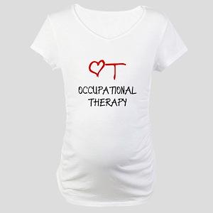 OT-HEART-onblack2 Maternity T-Shirt