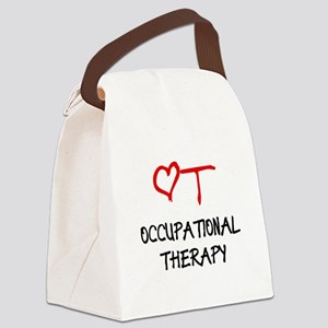 OT-HEART-onblack2 Canvas Lunch Bag