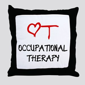 OT-HEART-onblack2 Throw Pillow