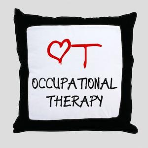 OT-HEART-onblack2 Throw Pillow