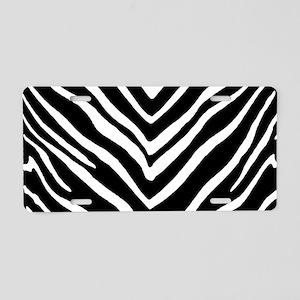 Zebra Striped Pattern Aluminum License Plate