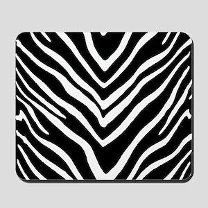 Zebra Striped Pattern Mousepad