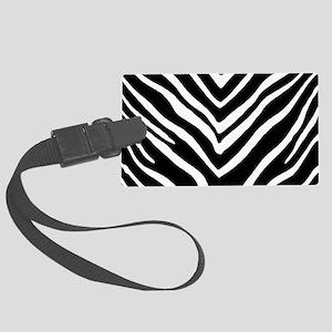Zebra Striped Pattern Luggage Tag