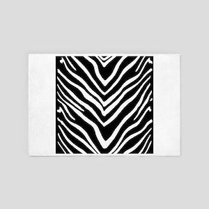 Zebra Striped Pattern 4' x 6' Rug