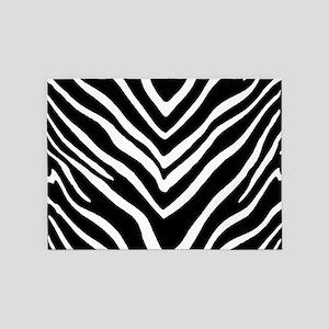 Zebra Striped Pattern 5'x7'Area Rug