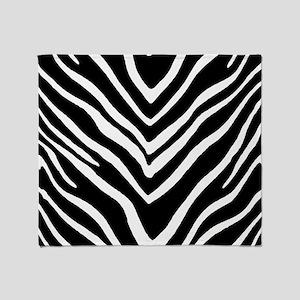 Zebra Striped Pattern Throw Blanket