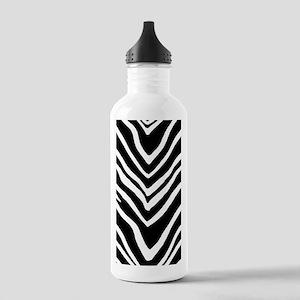 Zebra Striped Pattern Water Bottle