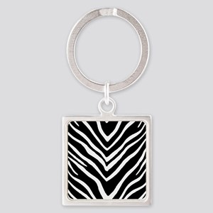 Zebra Striped Pattern Keychains