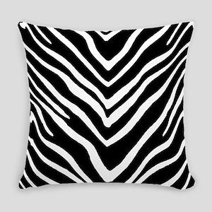 Zebra Striped Pattern Everyday Pillow