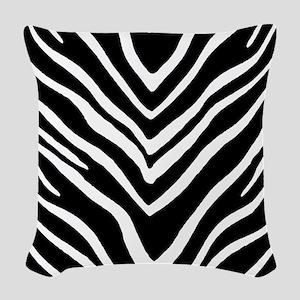Zebra Striped Pattern Woven Throw Pillow