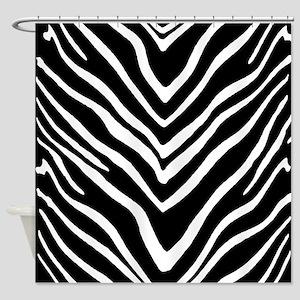Zebra Striped Pattern Shower Curtain