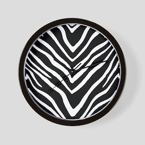 Zebra Striped Pattern Wall Clock
