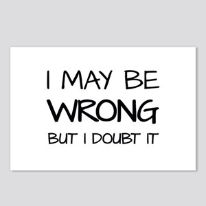 I MAY BE WRONG Postcards (Package of 8)