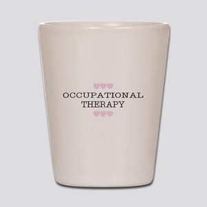 OT Occupational Therapy Hearts Shot Glass