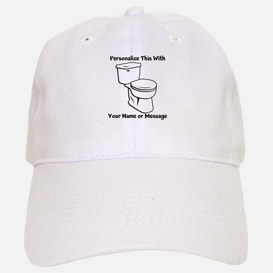PERSONALIZED Toilet Graphic Baseball Hat
