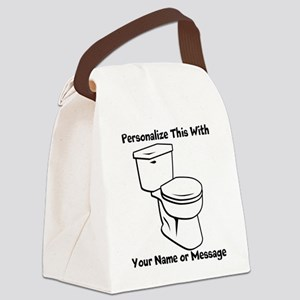 PERSONALIZED Toilet Graphic Canvas Lunch Bag
