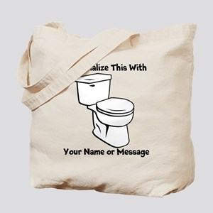 PERSONALIZED Toilet Graphic Tote Bag