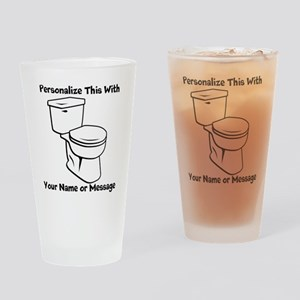 PERSONALIZED Toilet Graphic Drinking Glass