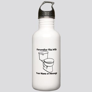 PERSONALIZED Toilet Graphic Water Bottle