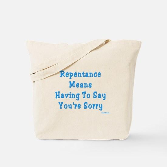Repentance Rosh Hashanah Tote Bag