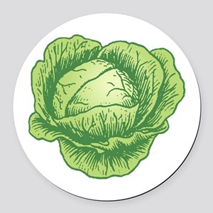 Cabbage Round Car Magnet
